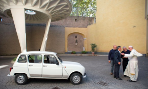 Pope Francis & his Ford Focus