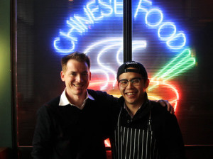 Co-owners David Rossi and Fung Lam of the Fortune Cookie