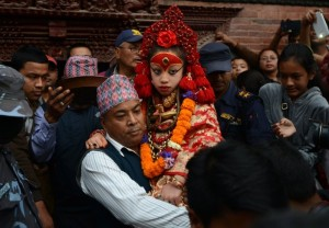 Nepal's Living Goddess, the Kumari Devi, 9 Prakash Mathema/AFP/Getty Images