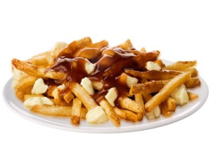 Poutine, as traditionally made